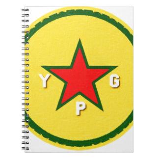 Cadernos logotipo do ypg