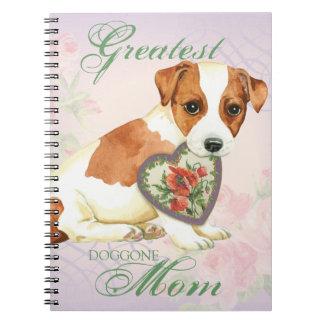Cadernos Mamã do coração de Russell Terrier