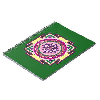 Cadernos Mandala de Sri Yantra