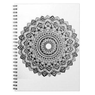 Cadernos Mandala preto e branco