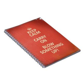 Cadernos Mantenha a calma