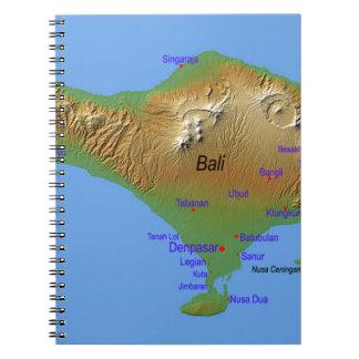 Cadernos Mapa de Bali Holliday