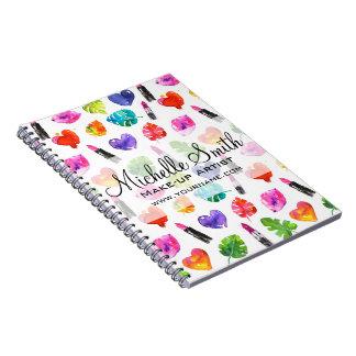 Cadernos Marcagem com ferro quente cor-de-rosa da