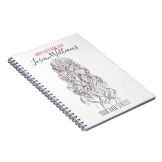 Cadernos Marcagem com ferro quente floral do penteado da