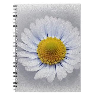 Cadernos margarida branca de brilho
