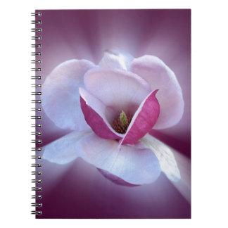 Cadernos máscaras cor-de-rosa da magnólia
