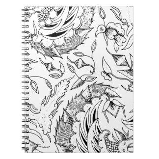 Cadernos Matéria têxtil indonésia dos vegetais e animal