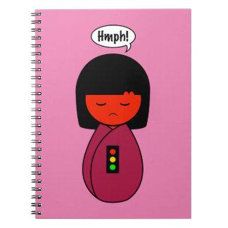Cadernos Menina Hmph de Kokeshi!