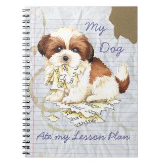Cadernos Meu Shih Tzu comeu meu plano de aula