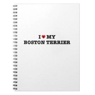 Cadernos Mim coração minha Boston Terrier