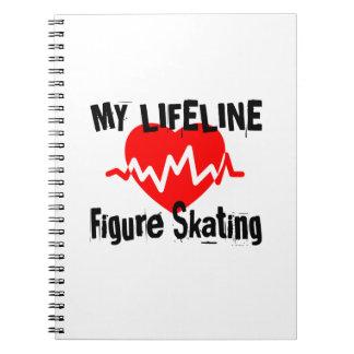 Cadernos Minha linha de vida patinagem artística ostenta o