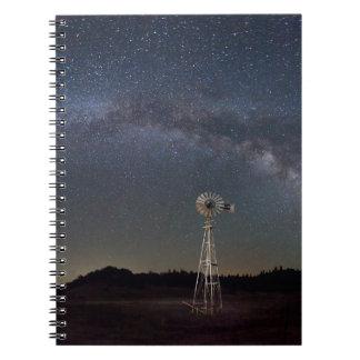 Cadernos Moinho de vento da Via Láctea
