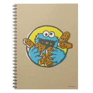 Cadernos Monstro do biscoito retro