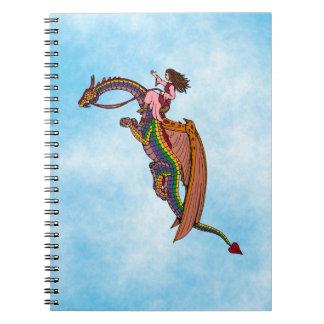 Cadernos Montando o dragão do arco-íris