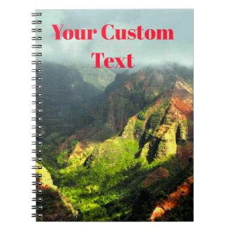 Cadernos Montanhas havaianas tropicais do Fogy