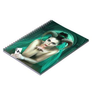 Cadernos Mulher da fantasia que joga o póquer