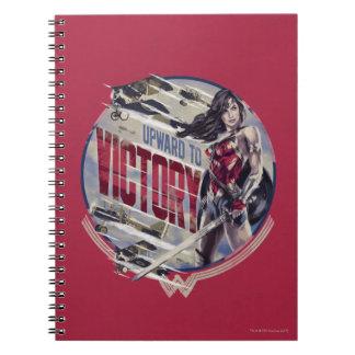 Cadernos Mulher maravilha para cima à vitória