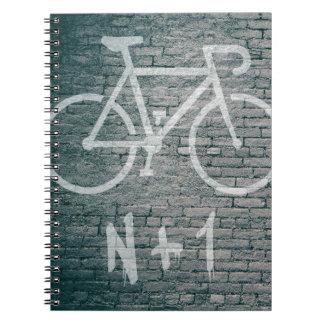Cadernos N+1 grafite da bicicleta