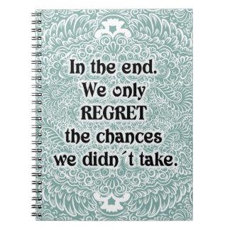 Cadernos Na extremidade - Quote´s positivo