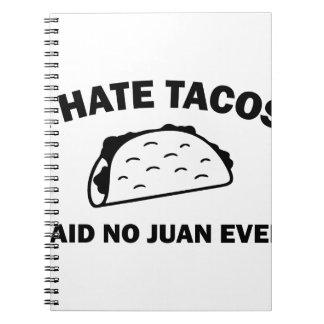 Cadernos Não disse nenhum Juan nunca