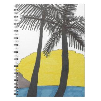 Cadernos Nascer do sol da palmeira