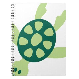 Cadernos Natação da tartaruga verde