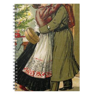 Cadernos Natal alemão do soldado do vintage retro