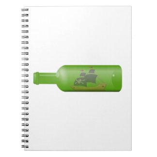 Cadernos Navio em uma garrafa