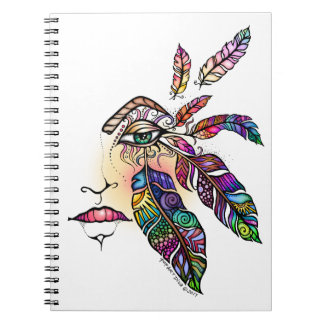 Cadernos O amor do OLHO EMPLUMA-SE a arte da fantasia