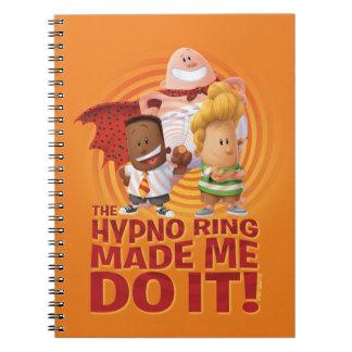 Cadernos O capitão Cuecas | o anel de Hypno fez-me fazê-lo