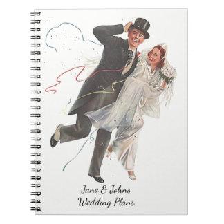 Cadernos O casamento planeia o livro retro do jornal do