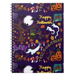 Cadernos O Dia das Bruxas do Dachshund da diva