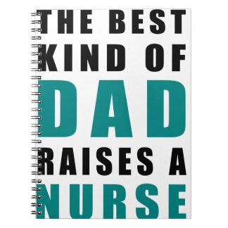 Cadernos o melhor tipo do pai aumenta uma enfermeira
