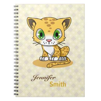 Cadernos O nome bonito dos desenhos animados do leopardo do