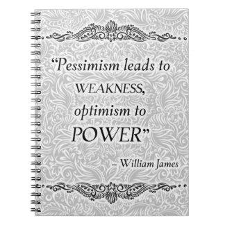 Cadernos O pessimismo conduz à fraqueza - Quote´s positivo