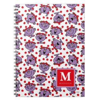 Cadernos O teste padrão de bolinhas vermelho | adiciona seu