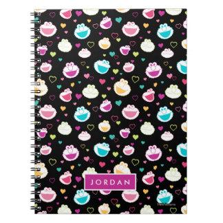 Cadernos O teste padrão doce | do coração do material