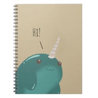 Cadernos Olá! lá Narwhal!