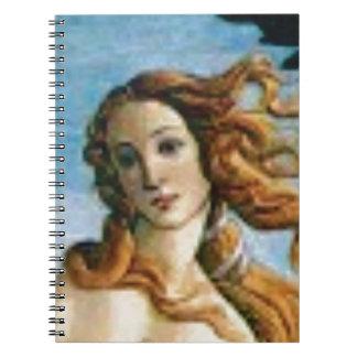 Cadernos óleo louro bonito