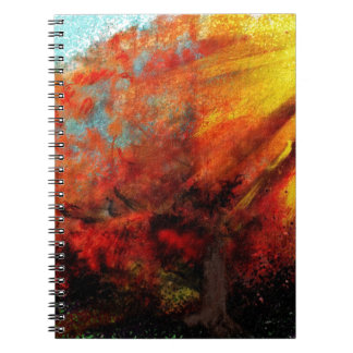 Cadernos Olhando a pintura do sol