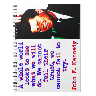 Cadernos Olhares inteiros de um mundo - John Kennedy