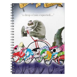 Cadernos o'rain da gota de yorkshire do amor