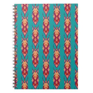 Cadernos Ornamento asteca tribal étnico do vintage