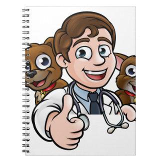 Cadernos Os polegares do personagem de desenho animado do