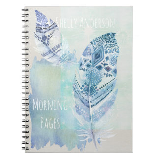 Cadernos Páginas claras da manhã da pena