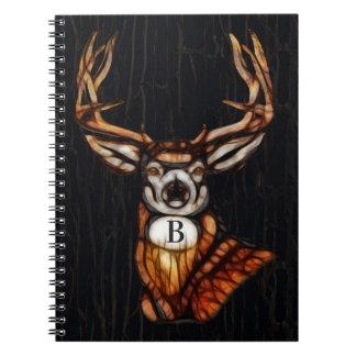 Cadernos País rústico dos cervos de madeira de madeira