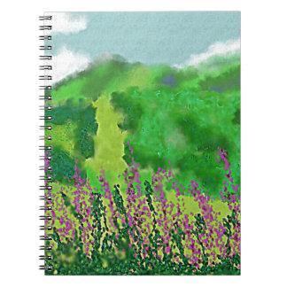 Cadernos Paisagem com arte das flores