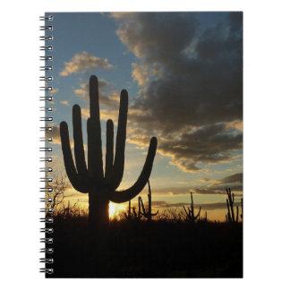 Cadernos Paisagem do deserto da arizona do por do sol II do