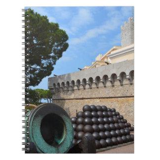Cadernos Palácio de Monaco - balas de canhão e canhões
