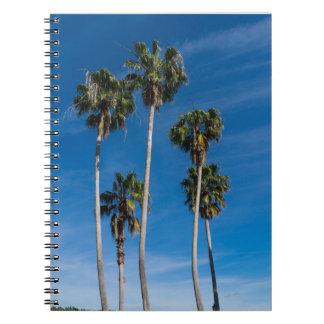 Cadernos Palmas de encurvamento altas